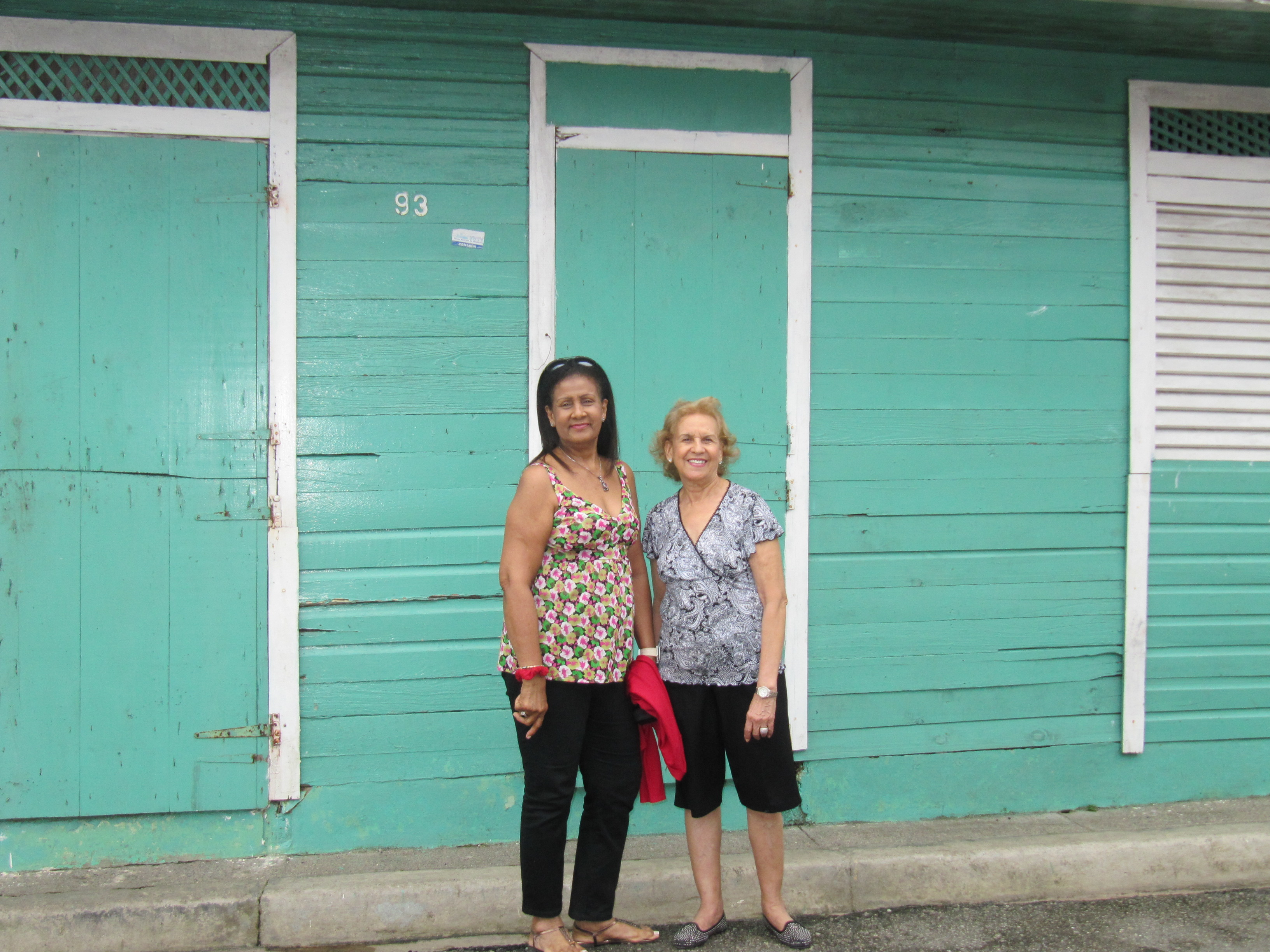 Friends visiting their old homes in Miches