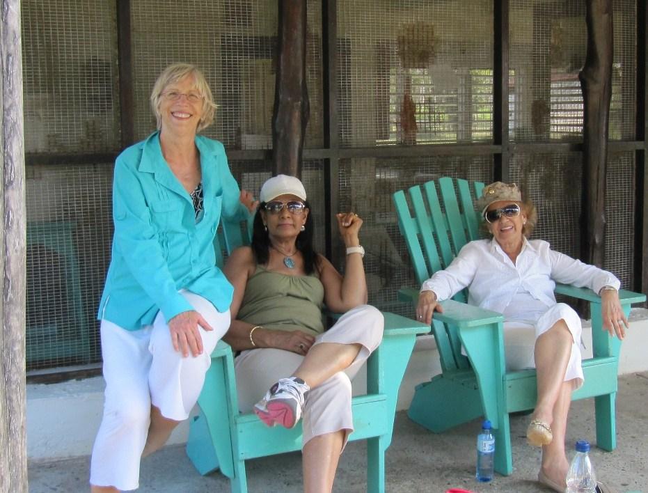 Rita with friends Lilia and Zuleica at Cocoloco 2013